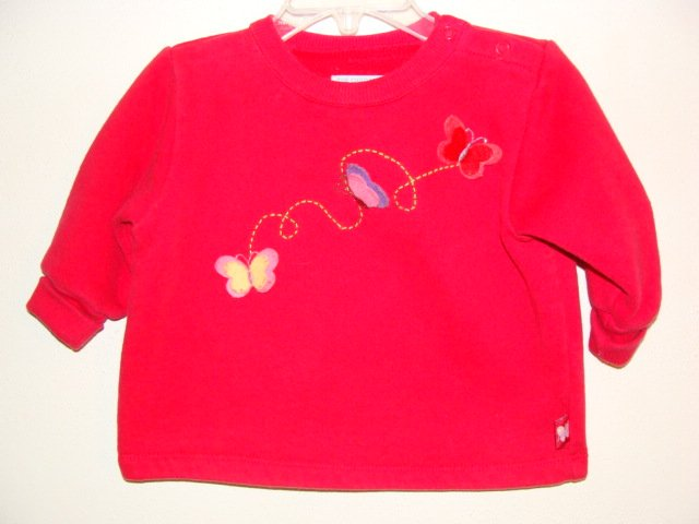Girls CHILDRENS PLACE Butterfly Sweatshirt 6-9 Mo *EUC*