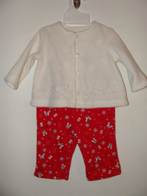 !CUTE! Girls 2pc Winter Pant Set Size 6 Months **EUC**