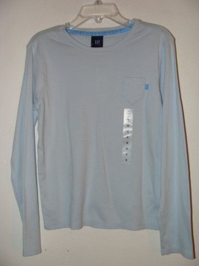 **NWT** Girls GAP Long Sleeve Blue Shirt Size Small 6/