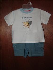 *NWT* Boy GYMBOREE Salt Washed Shirt Short LOT 3-6 Mo