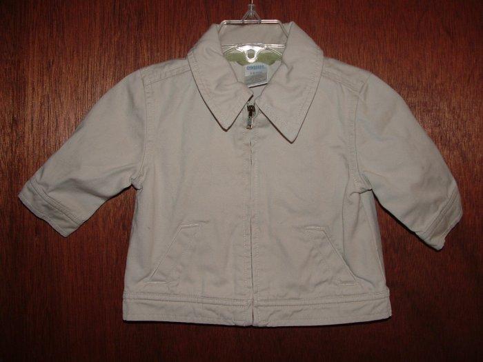 Boys GYMBOREE Country Club Khaki Coat Sz 3-6 Mo **EUC**