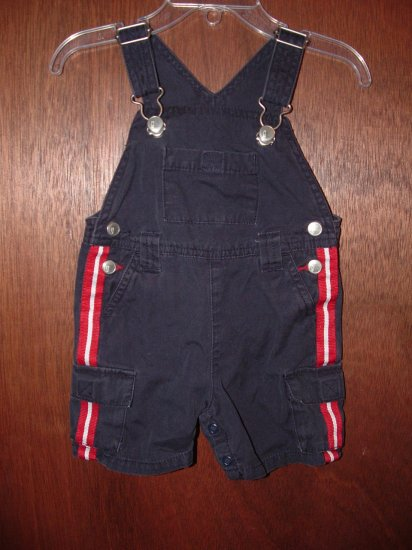 Boy GYMBOREE 4th of July Short Overalls Sz 3-6 Mo *EUC*
