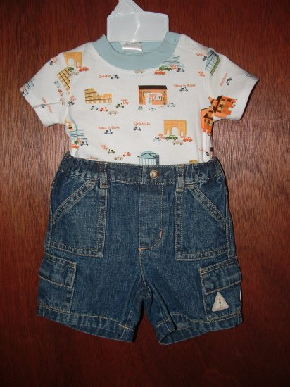 *NWT* Boy GYMBOREE When In Rome 2pc Short Set 3-6 Month