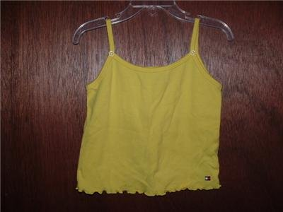 !CUTE! Girls TOMMY HILFIGER Yellow Tank Top 4/5 *EUC*