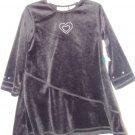 *NWT* Girls PAB Black Velour Heart Dress 2T