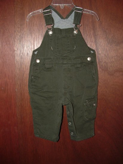 Boy BABY GAP Khaki Lined Pant Overalls 3-6 Months *EUC*