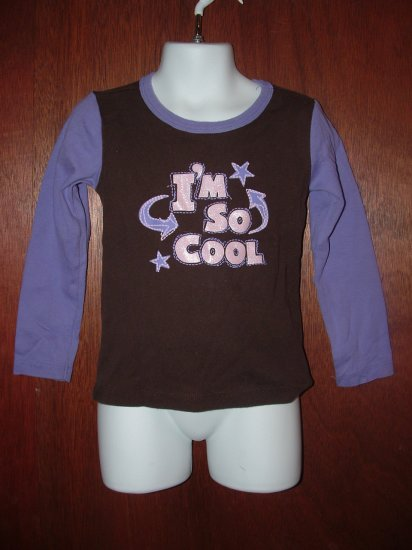 Girl CHILDREN'S PLACE I'm So Cool Lng Slv Shirt 4 *EUC*