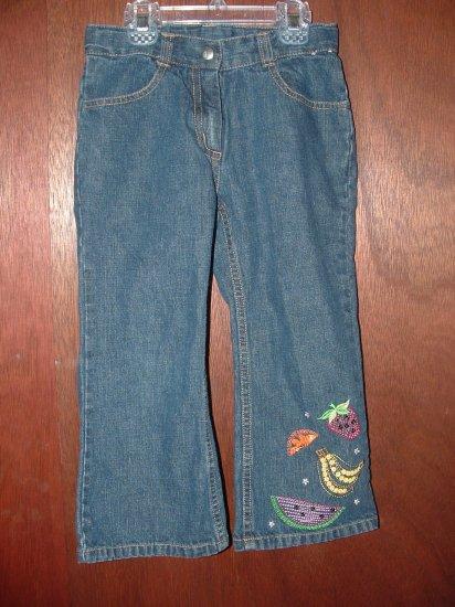 Girls GYMBOREE Tutti Fruity Ankle Length Jeans 6 **LN**