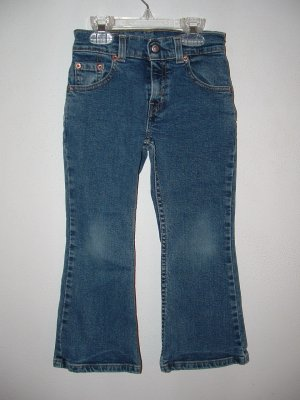 !CUTE! Girls LEVIS Dark Flare 5 Pocket Jeans Sz 5 *EUC*