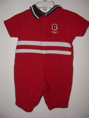 Boys GYMBOREE GAME DAY Pant Romper Sz 0-3 Months *EUC*