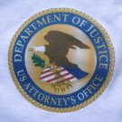 DEPARTMENT OF JUSTICE U.S. ATTORNEY T-SHIRT