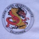 ASIAN GANG INVESTIGATORS CALIFORNIA T-SHIRT