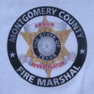 MONTGOMERY COUNTY TX ARSON INVESTIGATOR T-SHIRT
