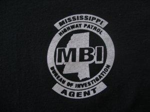 MISSISSIPPI HIGHWAY PATROL BUREAU OF INVESTIGATION T-SHIRT