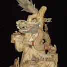 Nice Old Bone Carving Art Dragon King 12 Animals Figure