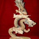 Nice Old Bone Carving Art Dragon Across Sky