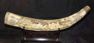 Old Bone Art Handicraft Man Woman Sex Design Tooth adornment