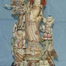Old Bone Art Handicraft Lucky Child Kwan-yin Statue