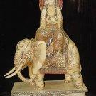Old Bone Art Handicraft Bodhisattva Ride Elephant Figure