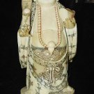 Old Bone Art Handicraft Lucky Ruyi Wealth Buddha Figure