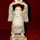 Old Bone Art Handicraft Wealth Buddha Bring Fortune Figure