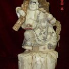 Old Bone Art Handicraft Wealth Buddha Bring Fortune Figure