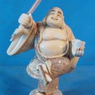 Old Bone Art Handicraft Lucky Laughing Mile Buddha Statue