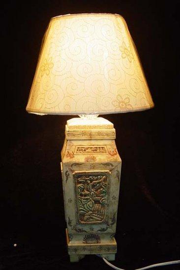 Old Bone Art Handicraft Flwoer Design Lamp Decoration