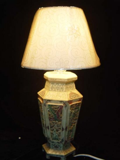 Old Bone Art Handicraft Flwoer Design Lamp Decoration