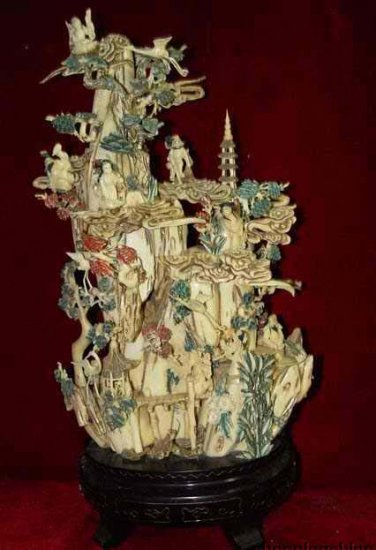 Exquisite Bone Art Handicraft Carving Nice Wonderland