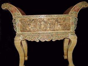 Exquisite Bone Art Handicraft Carving 8 immortal Table altar