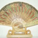 Exquisite Bone Art Handicraft Carving Phoenix Fan