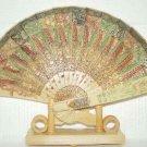 Exquisite Bone Art Handicraft Carving Phoenix Fan