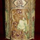 Exquisite Bone Art Handicraft Carving Four Flower Pen Vase