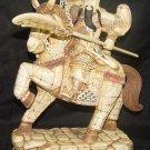 Exquisite Bone Art Handicraft Guangong God Ride Horse Statue