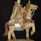 Exquisite Bone Art Handicraft honour QueenRide Horse Statue