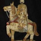 Exquisite Bone Art Handicraft honour emperor Ride Horse Statue