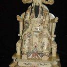 Exquisite Bone Art Handicraft Lucky Chinese Wealth God Figure