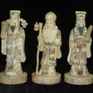 Exquisite Bone Art Handicraft Nice Fu Lu Shou God Figure