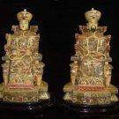 Exquisite Bone Art Handicraft Chinese emperor empress Figure