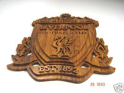Liverpool Logo Handmade with teakwood