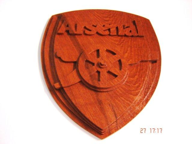Arsenal Logo Handmade With Teak Wood