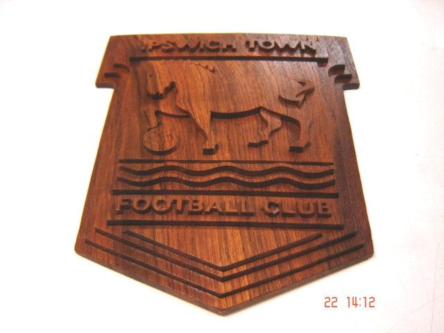 Ipswich Town Logo Handmade With Teak Wood
