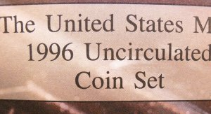 1996 Mint Set, U.S. Minted P and D UN-Circualed Coin Set.