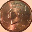 2006 Kennedy Halve Dollar. Raw. BU.