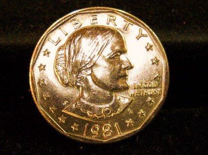 1981-P Susan B. Anthony Dollar. Choice UN-Circulated