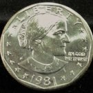 1981-S Susan B. Anthony  Choice UN-Circulated.