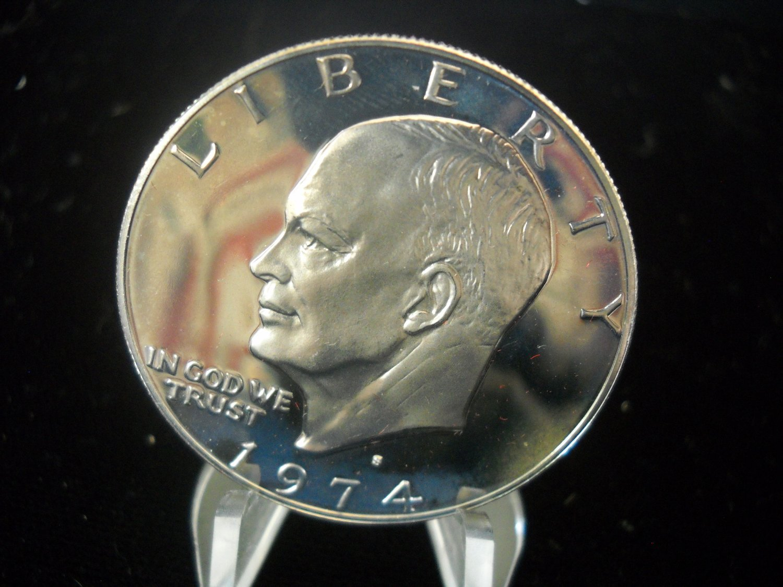 1974-S Eisenhower  Dollar.  CHOICE  CLAD PROOF.