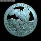 2010-S Washington Quarter, National Parks. Yellowstone Silver Proof.