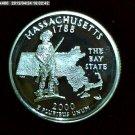 "2000-S Washington Qaurter. SILVER PROOF. ""Massachusetts"""